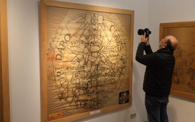 Sant Joan Despí exposa dibuixos originals de gran format d'esgrafiats i vidrieres de Jujol