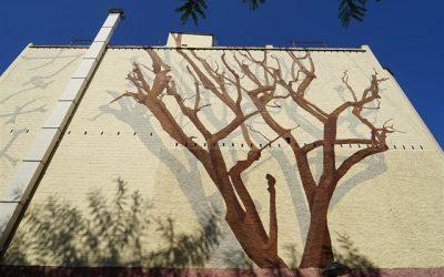 Un mural en Sant Joan Despí rinde homenaje a Jujol y a su conexión con la naturaleza