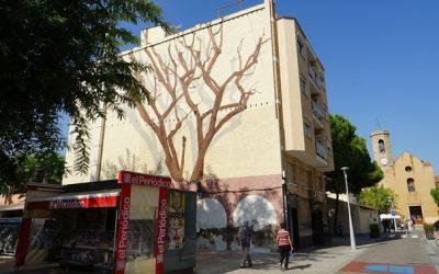 Sant Joan Despí ret homenatge a Josep Maria Jujol amb un mural de grans dimensions a l'espai urbà